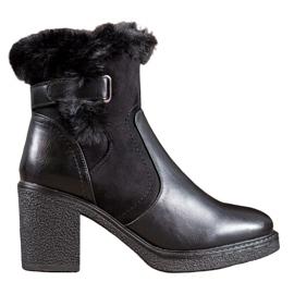 SHELOVET Støvler med pels sort