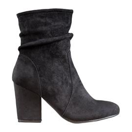 SHELOVET Støvler med høj ruskind sort