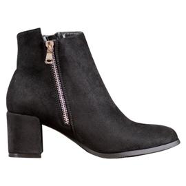 SHELOVET Klassiske ruskindstøvler sort