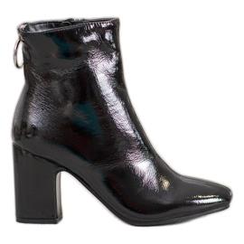 Seastar Lakkerede ankelstøvler sort
