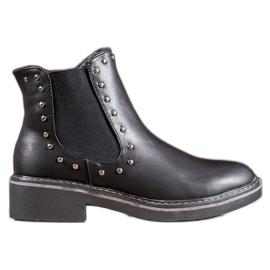 SHELOVET Støvler med rhinestones sort