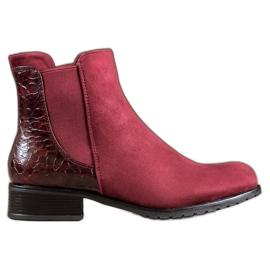 Erynn Burgundy Jodhpur støvler Snake Print rød
