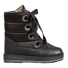 Muto Sne støvler på platformen sort