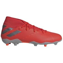 Adidas Nemeziz 19.3 Fg M F34389 fodboldsko rød, grå / sølv rød