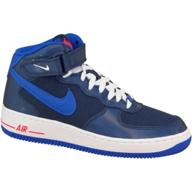 Nike Air Force 1 Mid Gs W 314195-412 sko navy