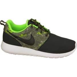 Nike Roshe One Print Gs M 677782-008 sko sort