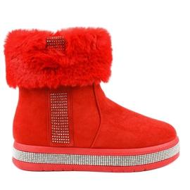 Isoleret rød ruskind Eskimoer K-356