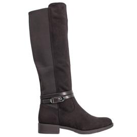 Super Me Elegante støvler med spænde sort