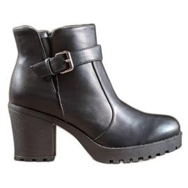Bella Paris Støvler med en spænde sort