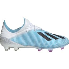 Adidas X 19.1 M Fg F35316 fodboldsko hvid, blå blå