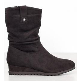 SHELOVET Cowboy støvler på kile sort