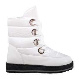 Muto Sne støvler på platformen hvid