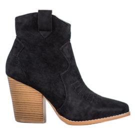 Bella Paris Cowboy støvler på en post sort