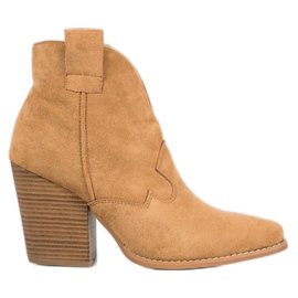 Bella Paris Suede cowboy støvler på en stang brun