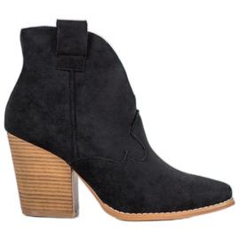 Bella Paris Suede cowboy støvler på en stang sort