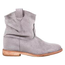 Bella Paris Cowboy støvler på kile grå