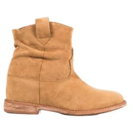 Bella Paris Cowboy støvler på kile brun