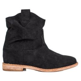 Bella Paris Cowboy støvler på kile sort