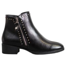 W. Potocki Rock ankelstøvler med Eco læder sort