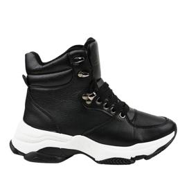 Sorte kvinders isolerede sneakers C-3132
