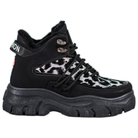 SHELOVET Leopard Print sneakers sort