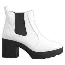 Weide Mode Jodhpur støvler hvid