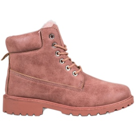 SHELOVET Pink Trappers With Fur