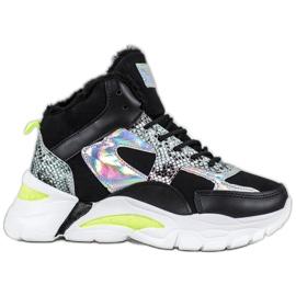 Bella Paris Sneakers med holo-effekt sort