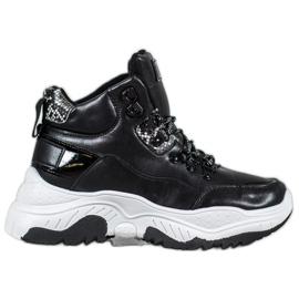 Bella Paris Mode snøre sneakers sort