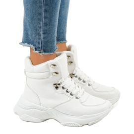 Hvide kvinder isolerede sneakers C-3132