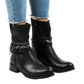 Sort isolerede flade støvler 4440