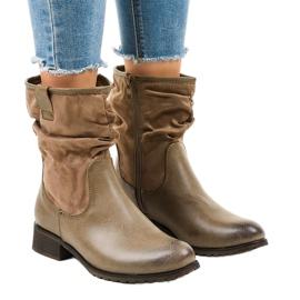 Brunisolerede flade støvler 3431