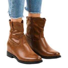 Brunisolerede cowboy støvler G-7607
