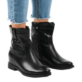 Sort isolerede cowboy støvler G-7607