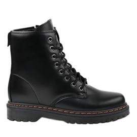 Sort matisolerede støvler DJH01-1