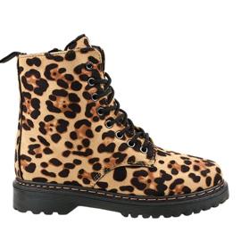 Leopard-isolerede støvler DJH01-18