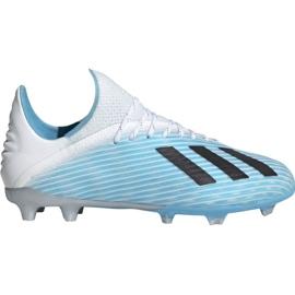 Adidas X 19.1 Fg Jr F35684 fodboldsko hvid, blå blå