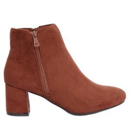 Brun ankelstøvler med høje hæle K1825116 Cuero