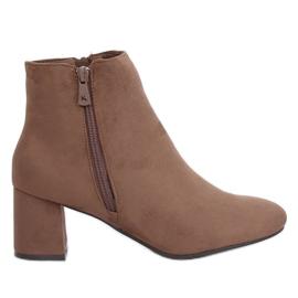 Beige ankel med høje hæle K1825116 Taupe brun