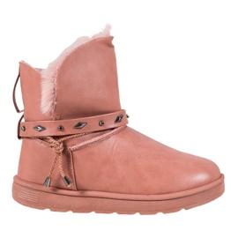 SHELOVET Mukluki med Eco læder pink