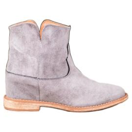 Bella Paris Suede cowboy støvler grå