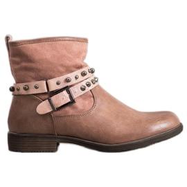 SHELOVET Lyserøde støvler med rhinestones pink