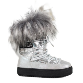 Bella Paris Varme sne-støvler med pels grå
