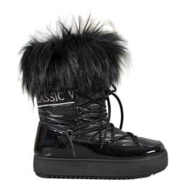 Bella Paris Varme sne-støvler med pels sort