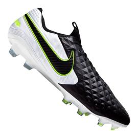 Nike Legend 8 Elite Fg M AT5293-007 fodboldsko hvid, sort sort