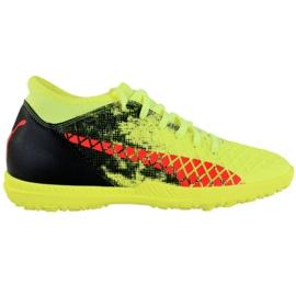 Puma Future 18.4 Tt M 104339 01 fodboldsko sort, grøn, orange gul