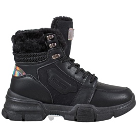 SHELOVET Sportsstøvler med Holo-effekt sort