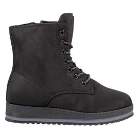 SHELOVET Støvler i ruskind sort