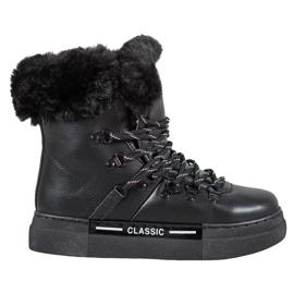 Bella Paris Sort Classic snestøvler