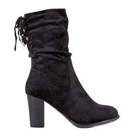 J. Star Høj sorte støvler